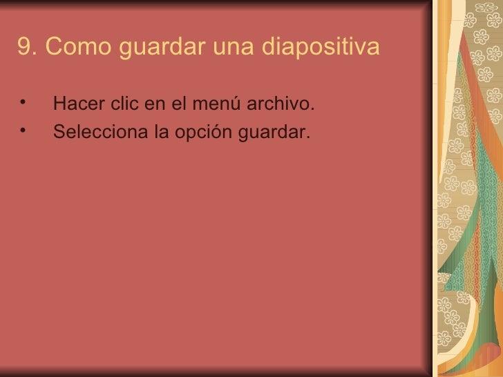 Dise o de una diapositiva sonia for Diseno de diapositivas