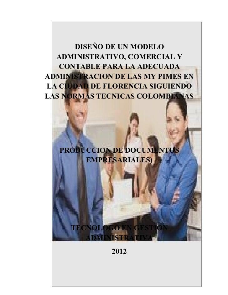 Diseño de un modelo administrativo trabajo