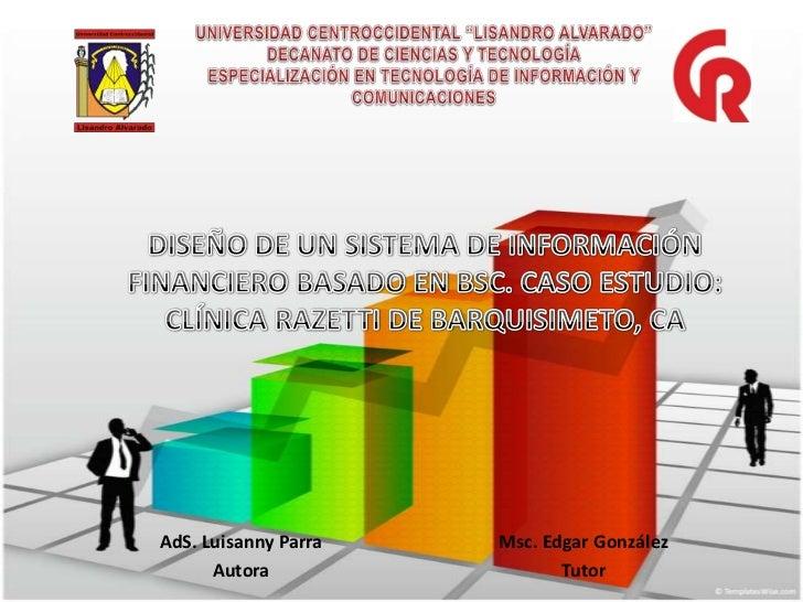 """UNIVERSIDAD CENTROCCIDENTAL """"LISANDRO ALVARADO""""DECANATO DE CIENCIAS Y TECNOLOGÍAESPECIALIZACIÓN EN TECNOLOGÍA DE INFORMACI..."""