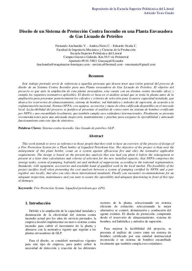 Repositorio de la Escuela Superior Politécnica del Litoral Artículo Tesis Grado  Diseño de un Sistema de Protección Contra...
