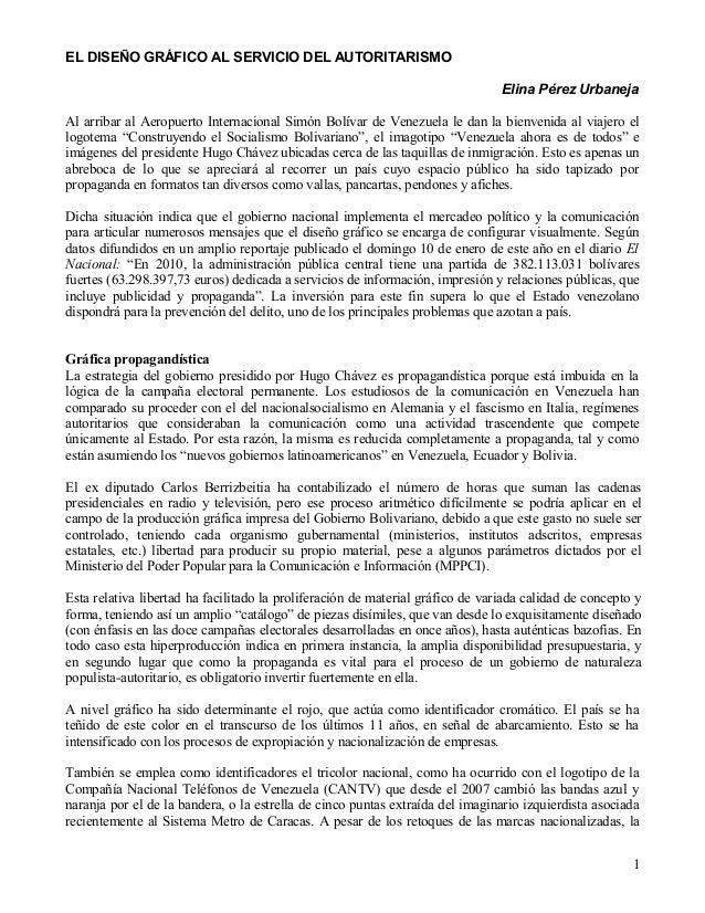 EL DISEÑO GRÁFICO AL SERVICIO DEL AUTORITARISMO                                                                           ...