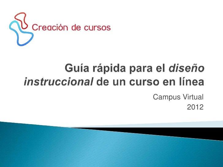 Diseño instruccional campus virtual