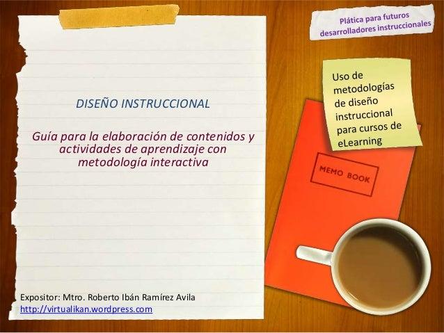 Diseño instruccional guía de elaboración de contenidos actividades online