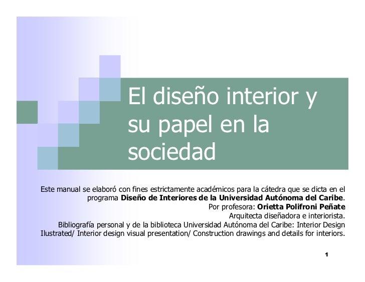 Dise o interior que es por orietta polifroni for Diseno de interiores asturias