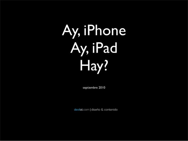Diseño en iPhone y iPad