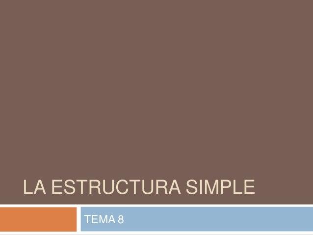 Diseño organizativo estructura simple