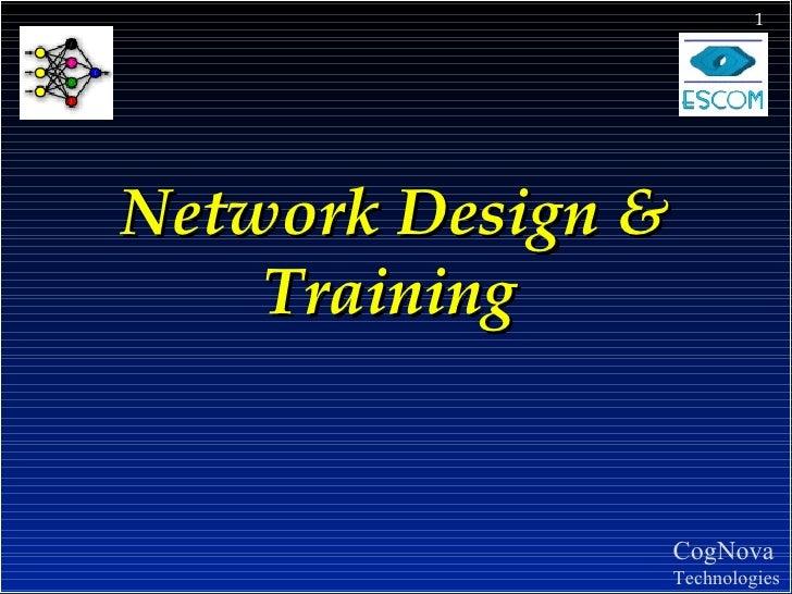NEURAL Network Design  Training