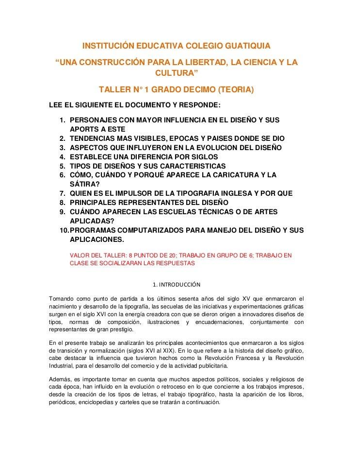 """INSTITUCIÓN EDUCATIVA COLEGIO GUATIQUIA  """"UNA CONSTRUCCIÓN PARA LA LIBERTAD, LA CIENCIA Y LA                     CULTURA"""" ..."""