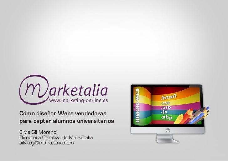 diseñar webs vendedoras para captar alumnos universitarios