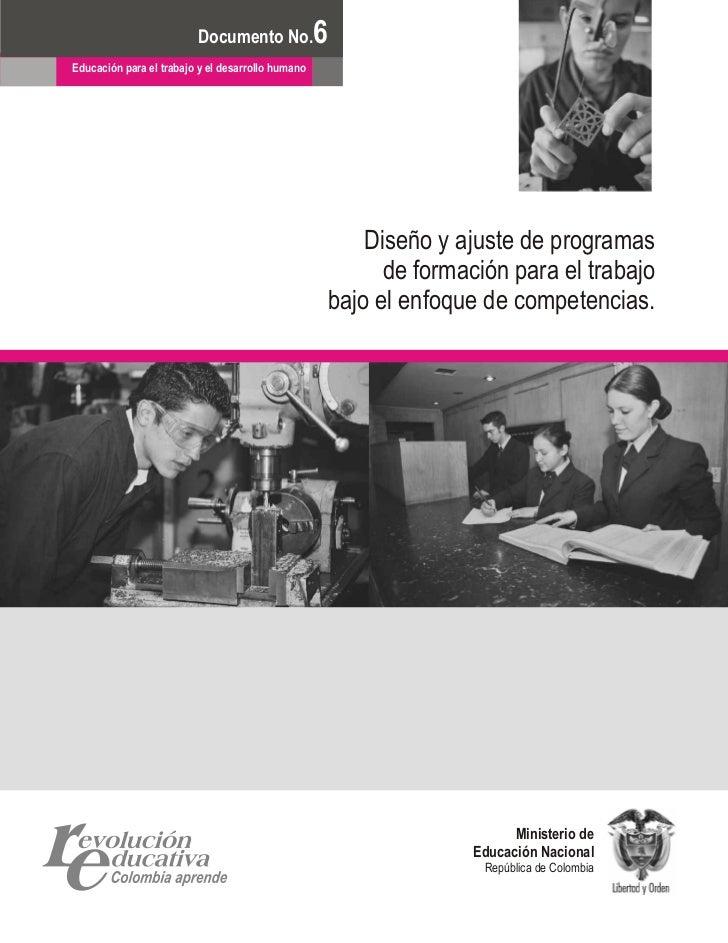 Diseño y ajuste de programas de formación para el trabajo
