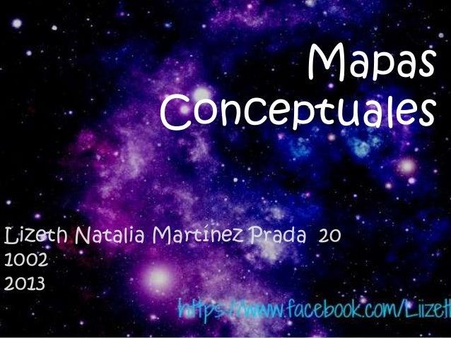 Mapas Conceptuales Lizeth Natalia Martínez Prada 20 1002 2013