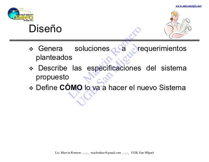 www.miceminfo.netDiseño                          l o                        ue er                      ig m  Genera    so...