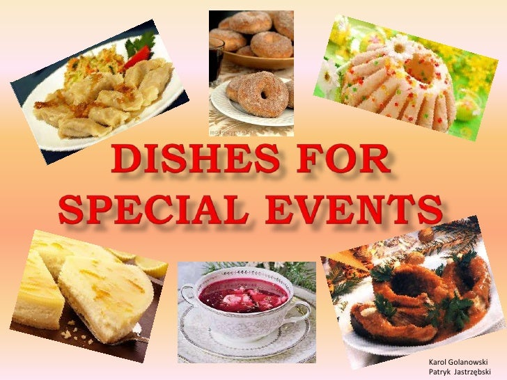 Dishes for special events in Poland