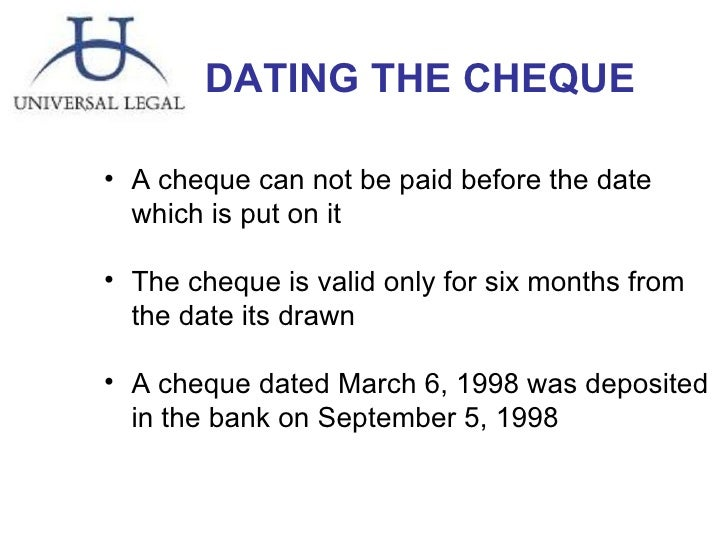 is post dating cheques illegal aliens