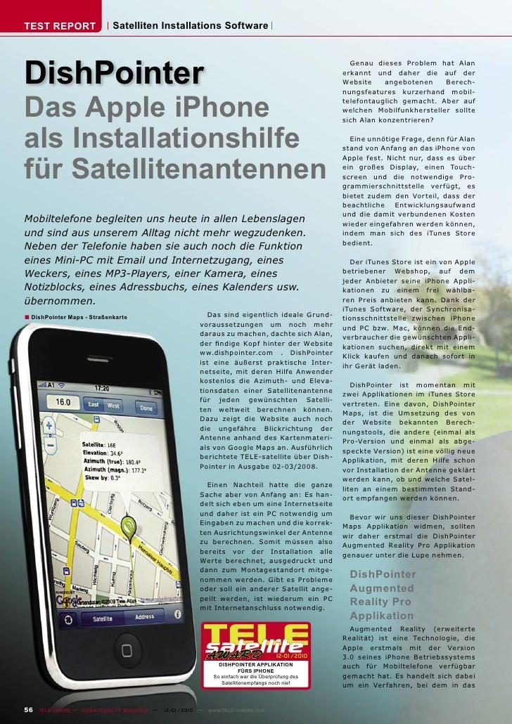 TEST REPORT                   Satelliten Installations Software     DishPointer                                           ...