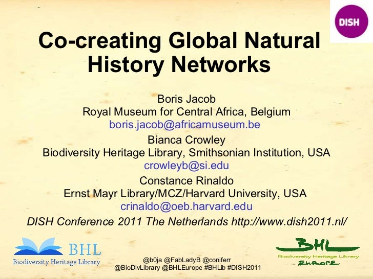 Co-creating Global Natural History Networks Boris Jacob Royal Museum for Central Africa, Belgium boris.jacob@africamuseum....