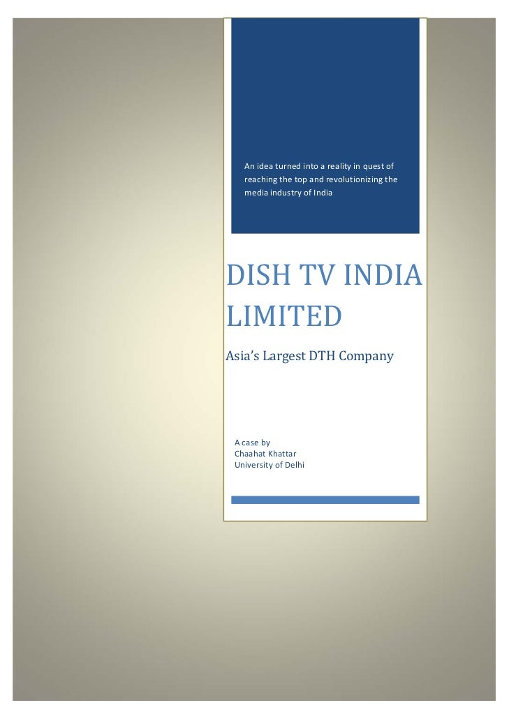 Dish tv India Limited Case Study