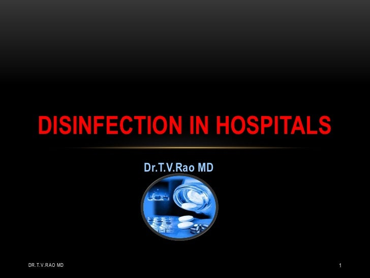 Disinfection in hospitals