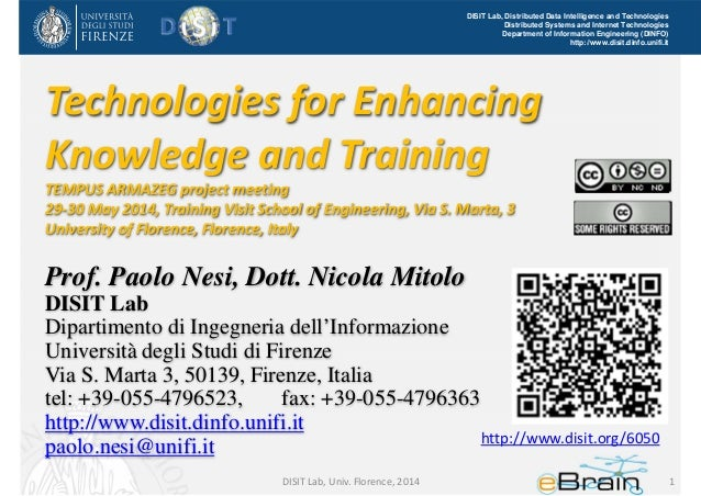 Technologies for Enhancing Knowledge and Training, the future of e-learning tools