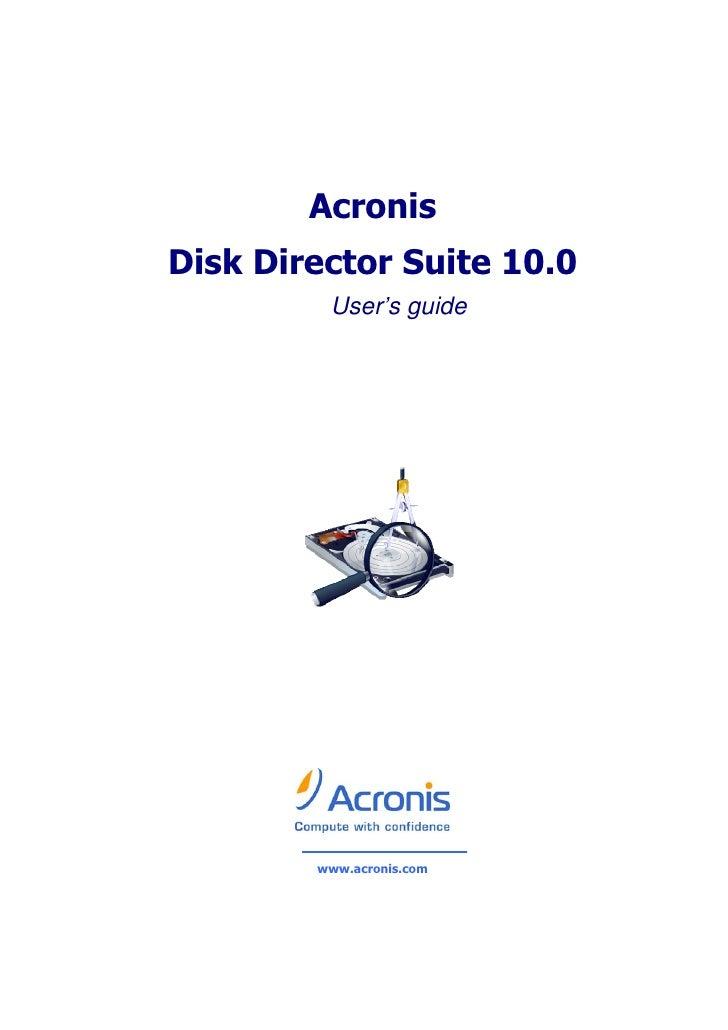 Disk Director Suite10.0 Ug.En