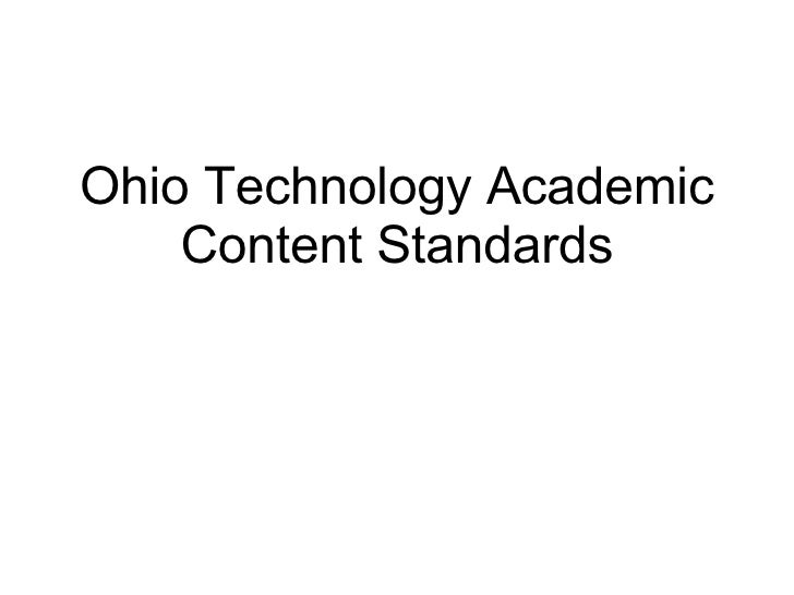 Ohio Technology Academic Content Standards