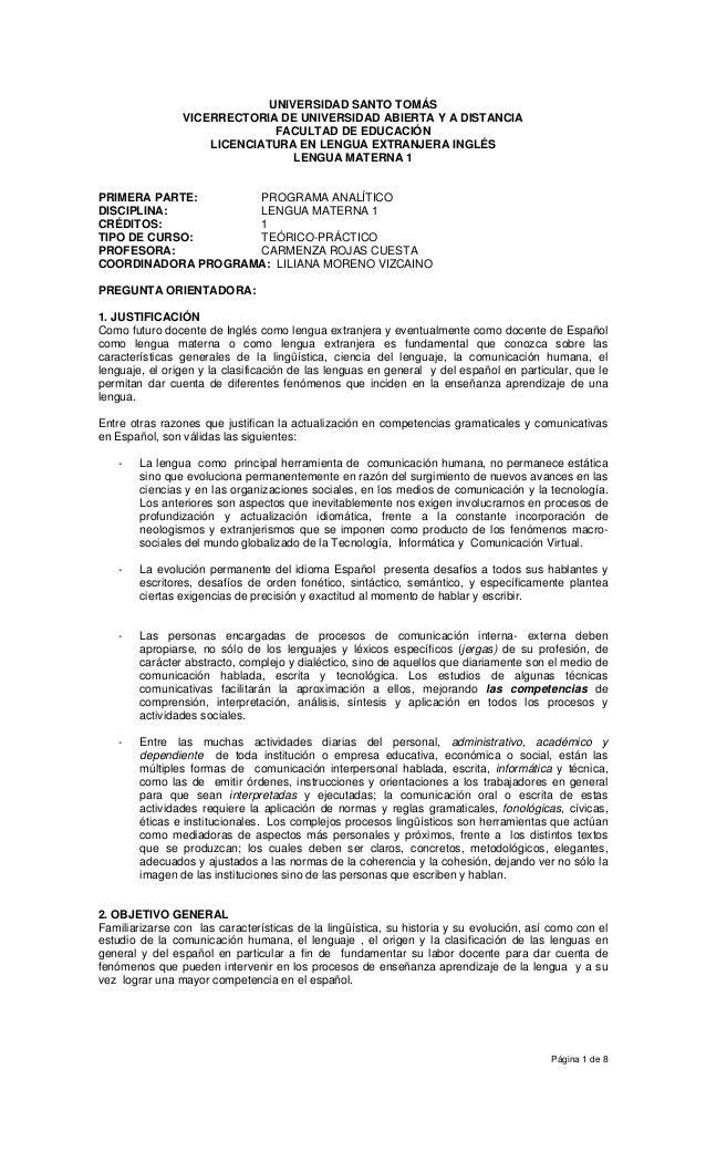 UNIVERSIDAD SANTO TOMÁS                VICERRECTORIA DE UNIVERSIDAD ABIERTA Y A DISTANCIA                              FAC...