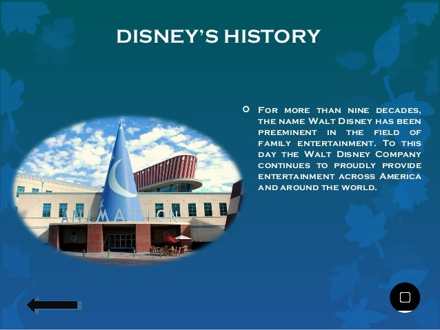 an introduction to the disney corporation The walt disney company, together with its subsidiaries and affiliates, is a leading diversified international family entertainment and media enterprise.