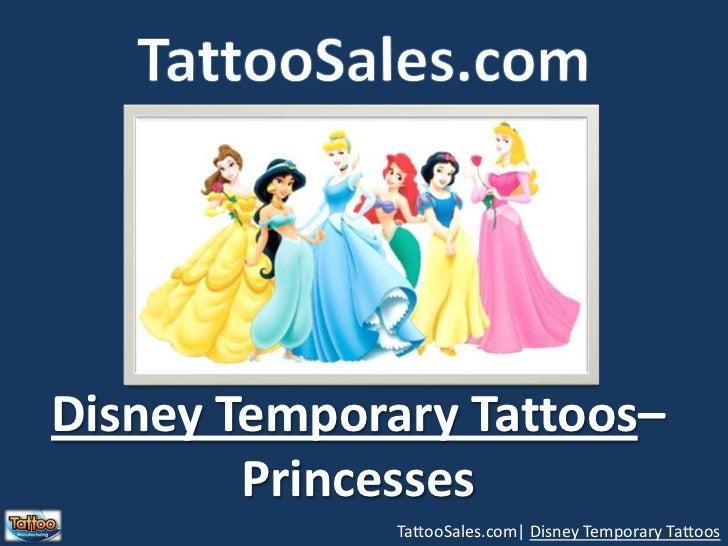 TattooSales.com<br />Disney Temporary Tattoos– <br />Princesses<br />