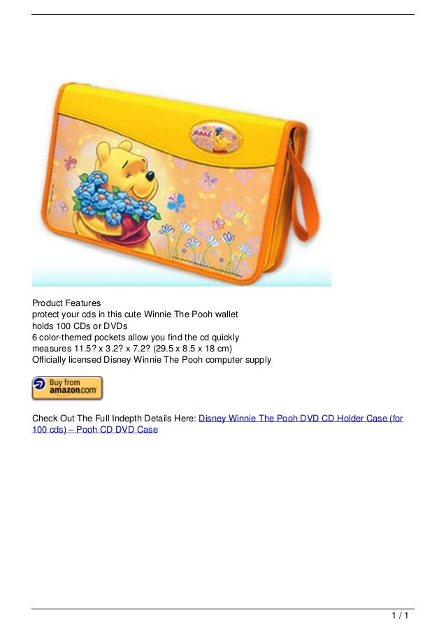 Disney Winnie The Pooh DVD CD Holder Case (for 100 cds) – Pooh CD DVD Case