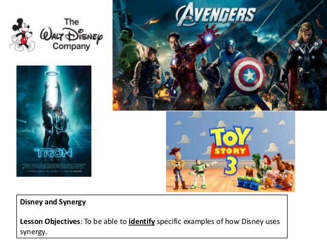 Disney and Synergy Lesson Objectives: To be able to identify specific examples of how Disney uses synergy.