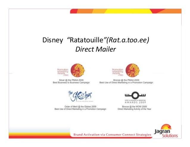 "Disney ""Ratatouille""(Rat.a.too.ee) Direct Mailer"
