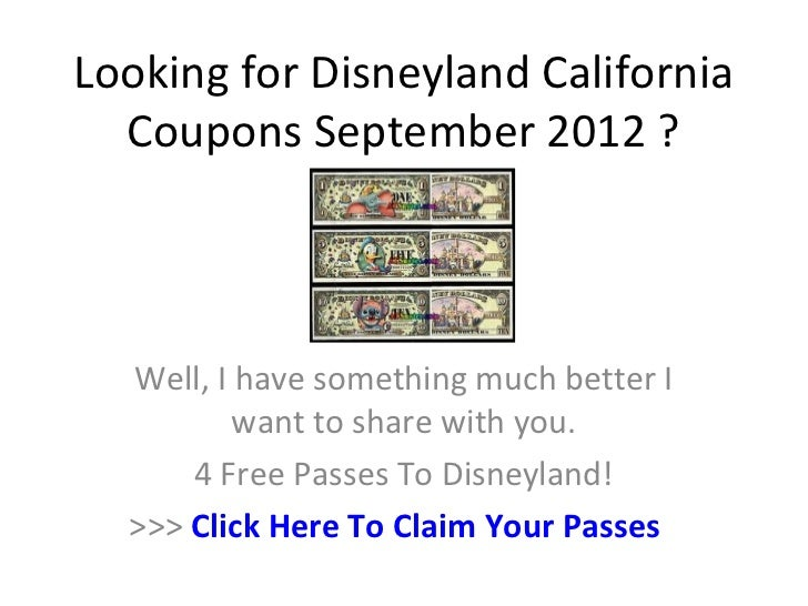 Disneyland california discount coupons