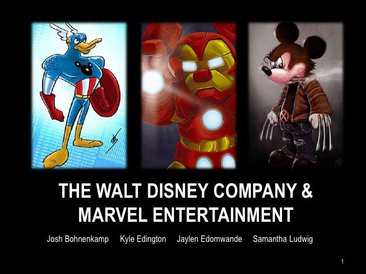The Walt Disney Company &MARVEL Entertainment<br />1<br />Josh Bohnenkamp  Kyle Edington     Jaylen Edomwande     Samanth...