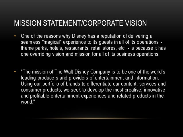 Research Powerpoint: Walt Disney Company