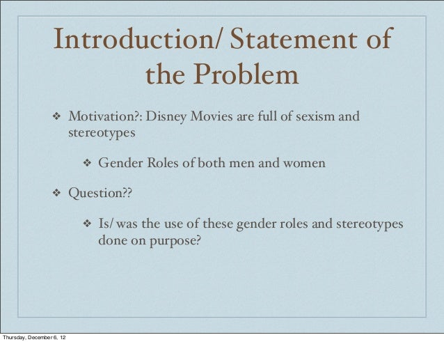 Sexism thesis