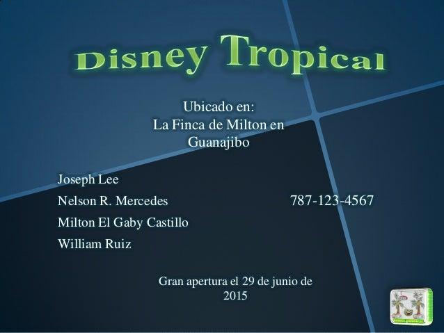 Joseph Lee Nelson R. Mercedes Milton El Gaby Castillo William Ruiz Ubicado en: La Finca de Milton en Guanajibo 787-123-456...