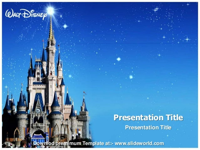 Disney World Powerpoint Template - SlideWorld