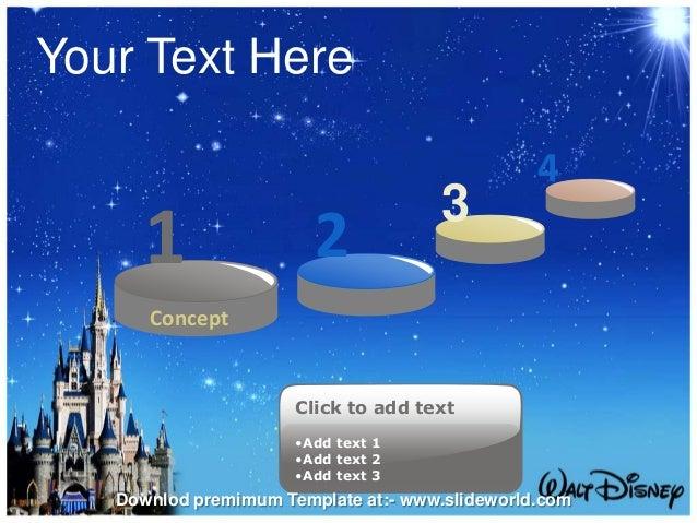 disney world powerpoint template slideworld