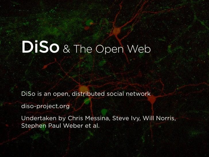 DiSo & The Open Web