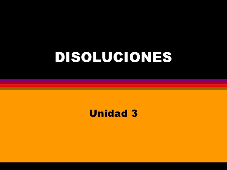 DISOLUCIONES Unidad 3