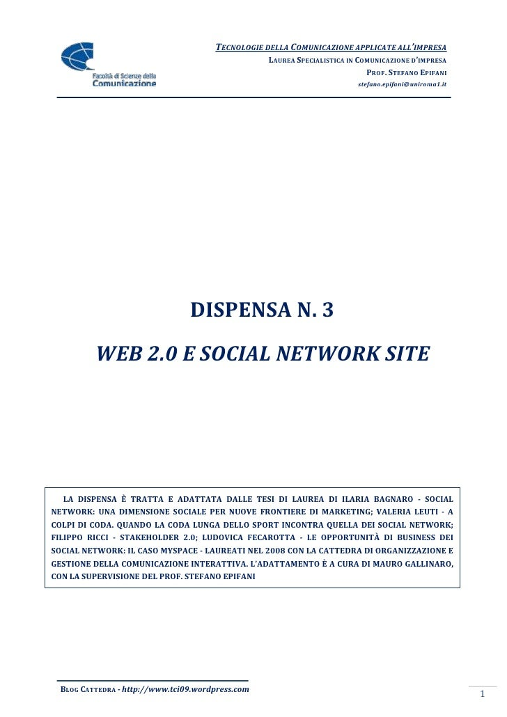 Dispensa 3   Social Network E Web 2.0
