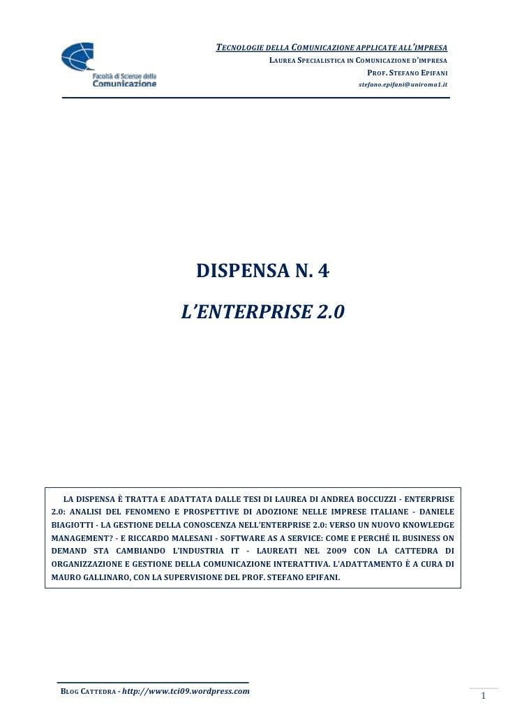Dispensa 4   Enterprise 2.0