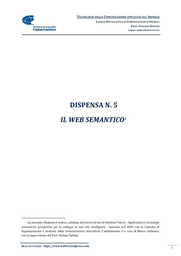 Dispensa 5   Il Web Semantico