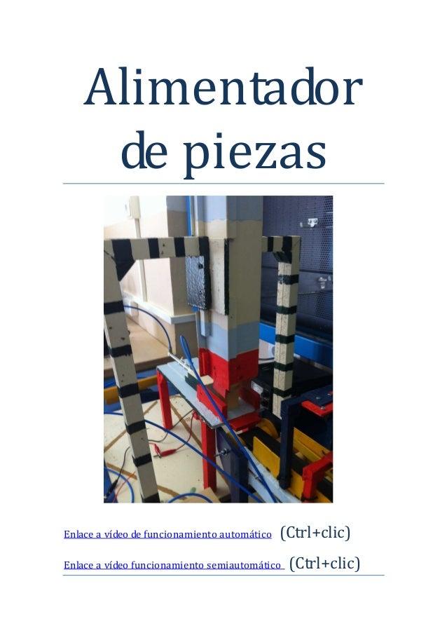 Proyecto de tecnologia. Alimentador de piezas automático