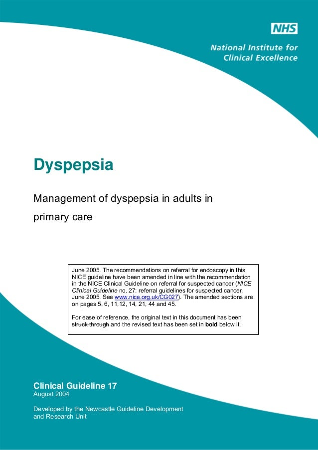 Dispepsia guidelines