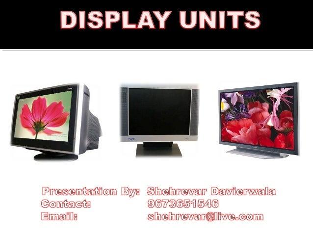 Display units
