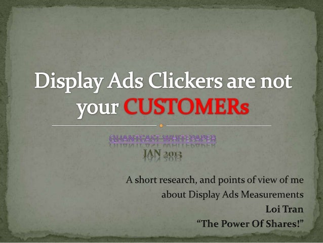 Display ads clickers are not your customers