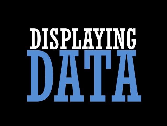 Displaying Data
