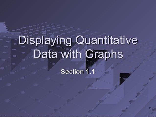 Displaying quantitative data 1.1
