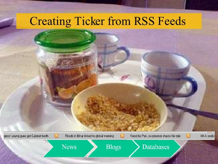Creating Ticker from RSS Feeds